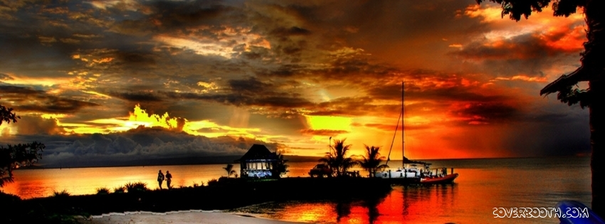 beautiful-evening-on-beach-facebook-cover